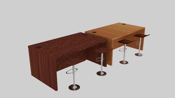 Desk Holeside Set - 3DOcean Item for Sale