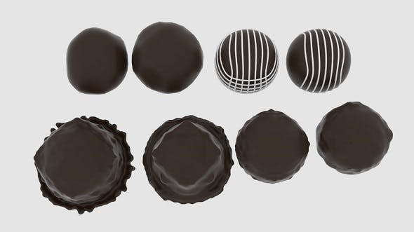 Round Chocolate Pack - 3DOcean Item for Sale