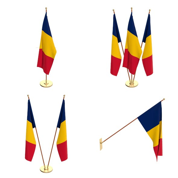 Chad Flag Pack - 3DOcean Item for Sale