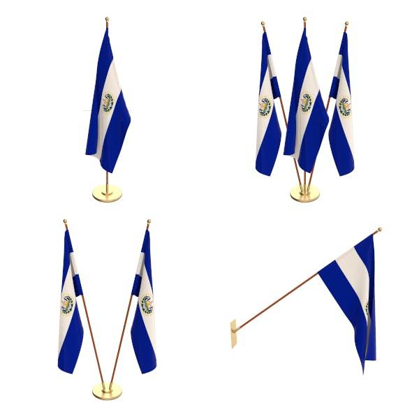 El Salvador Flag Pack - 3DOcean Item for Sale