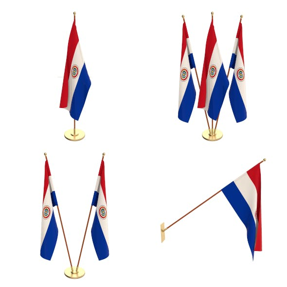 Paraguay Flag Pack - 3DOcean Item for Sale