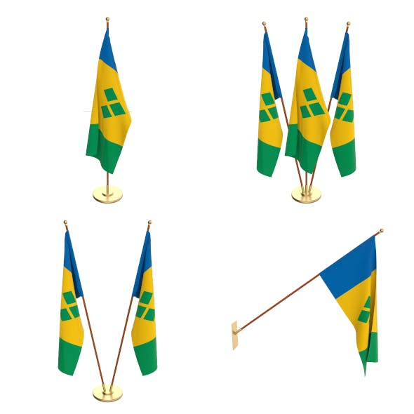 Saint Vincent And The Grenadines Flag Pack - 3DOcean Item for Sale