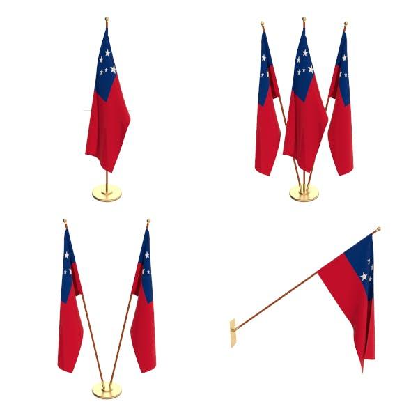Samoa Flag Pack - 3DOcean Item for Sale