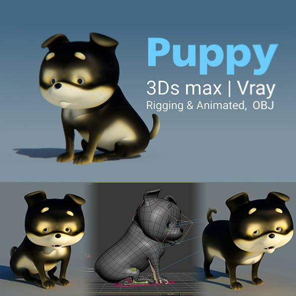 Puppy 3D model - 3DOcean Item for Sale