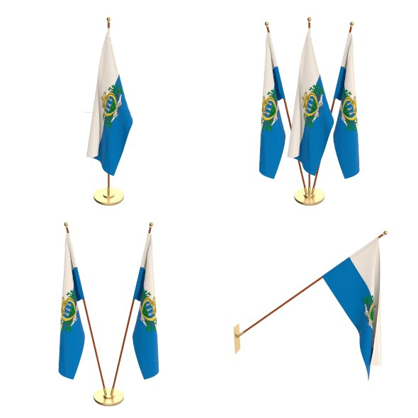 San Marino Flag Pack - 3DOcean Item for Sale