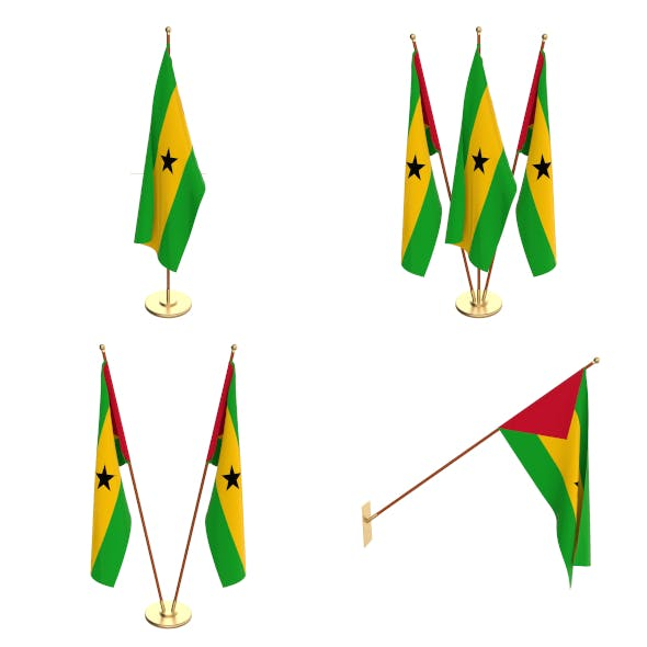 Sao Tome And Principe Flag Pack - 3DOcean Item for Sale