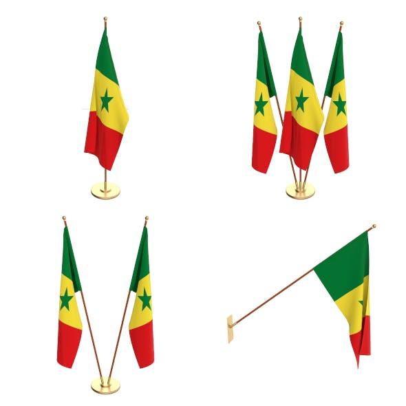 Senegal Flag Pack - 3DOcean Item for Sale