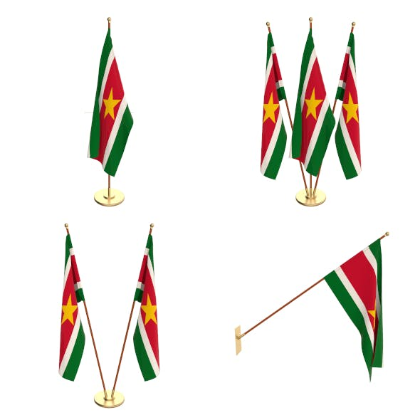Suriname Flag Pack - 3DOcean Item for Sale