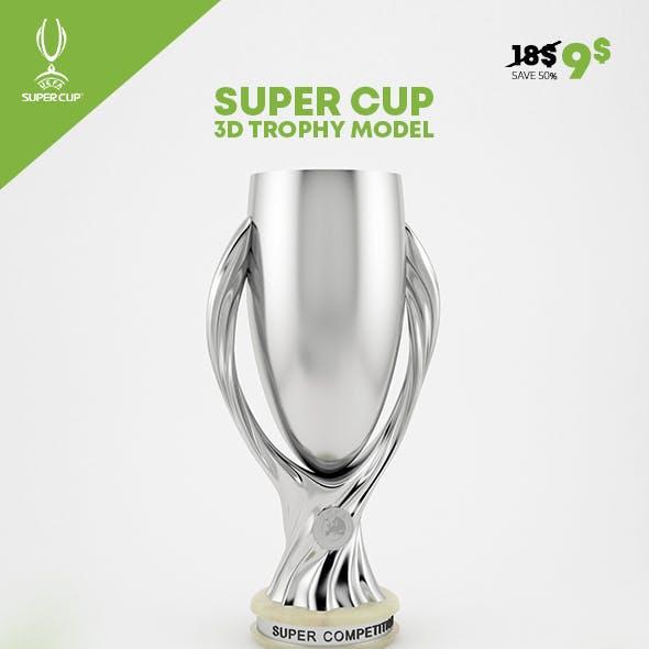 UEFA Super Cup Trophy 3D Model