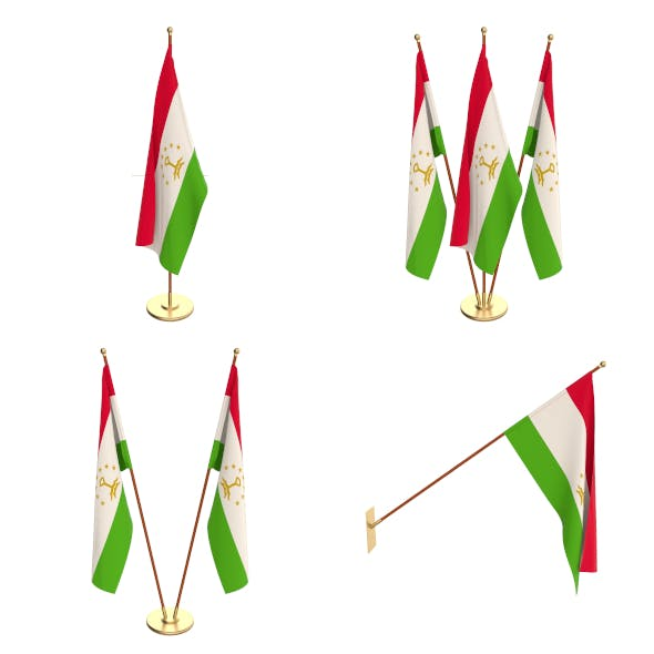 Tajikistan Flag Pack - 3DOcean Item for Sale