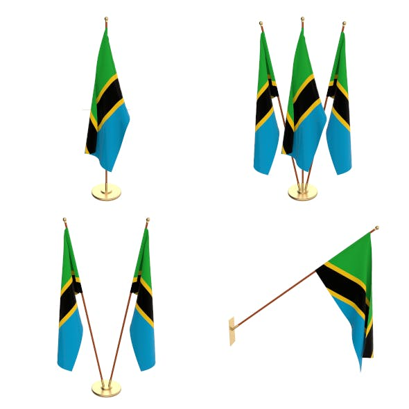 Tanzania Flag Pack - 3DOcean Item for Sale