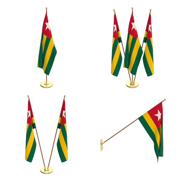 Togo Flag Pack - 3DOcean Item for Sale