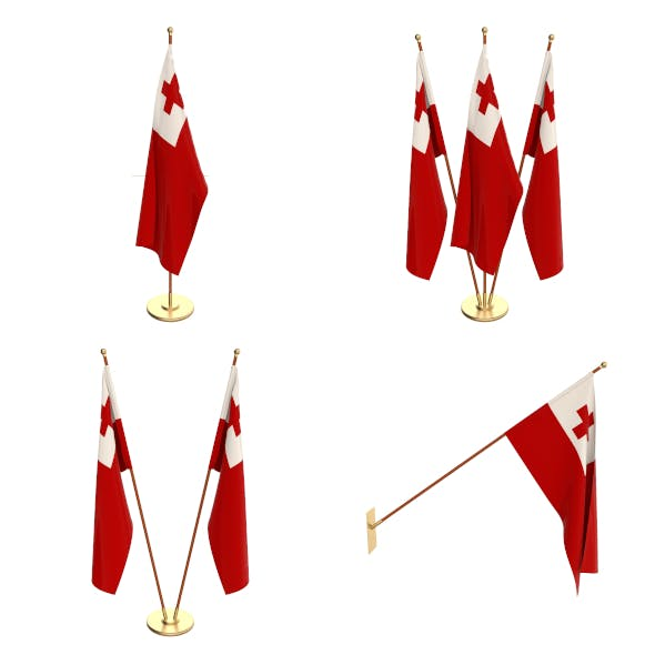 Tonga Flag Pack - 3DOcean Item for Sale