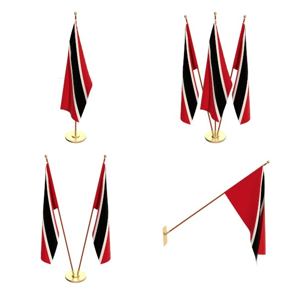 Trinidad And Tobago Flag Pack - 3DOcean Item for Sale