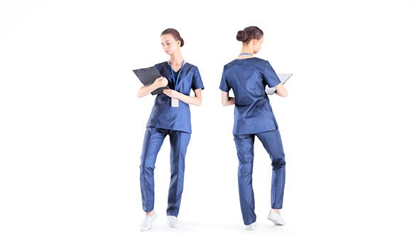 Medical nurse 11 - 3DOcean Item for Sale