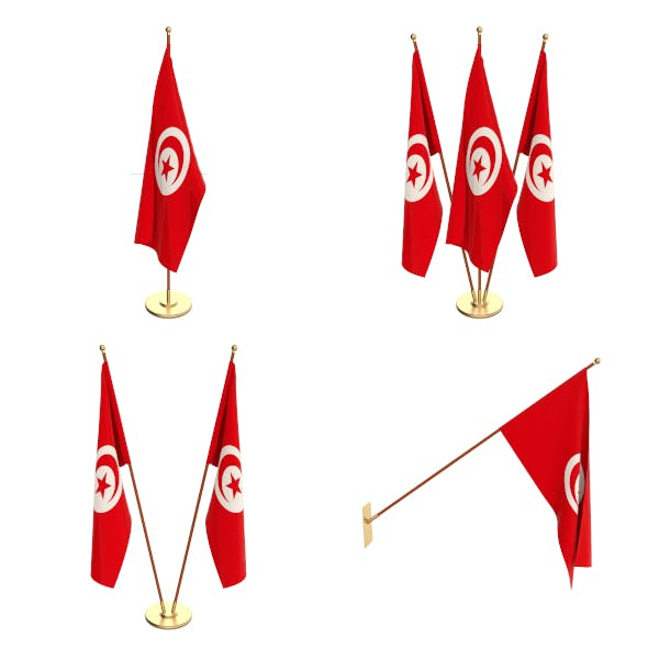Tunisia Flag Pack - 3DOcean Item for Sale