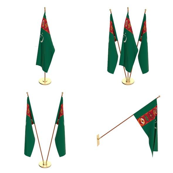 Turkmenistan Flag Pack - 3DOcean Item for Sale