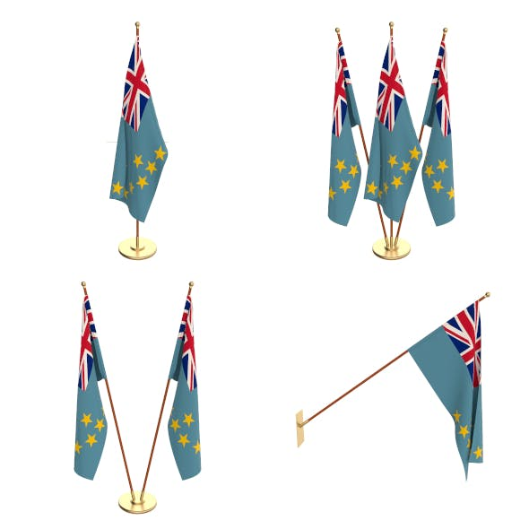 Tuvalu Flag Pack - 3DOcean Item for Sale