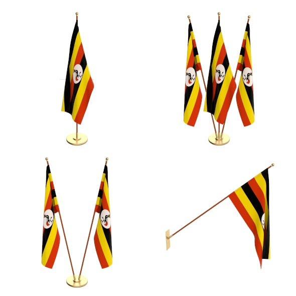 Uganda Flag Pack - 3DOcean Item for Sale