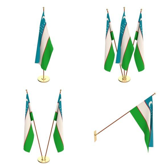 Uzbekistan Flag Pack - 3DOcean Item for Sale
