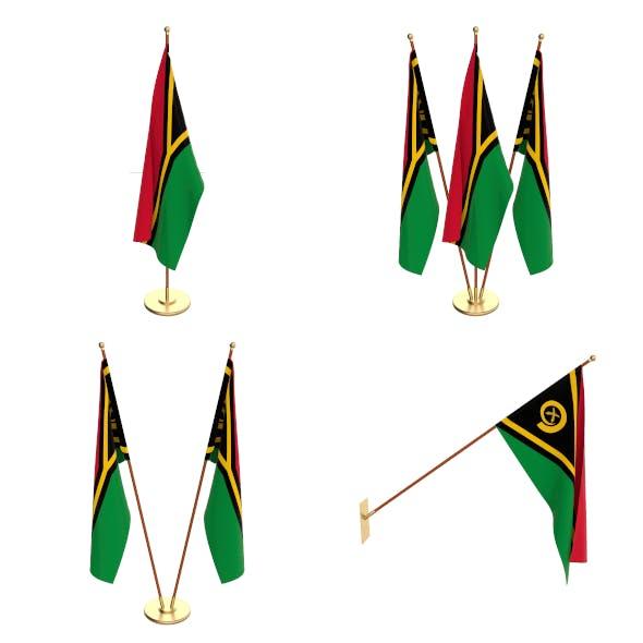 Vanuatu Flag Pack - 3DOcean Item for Sale