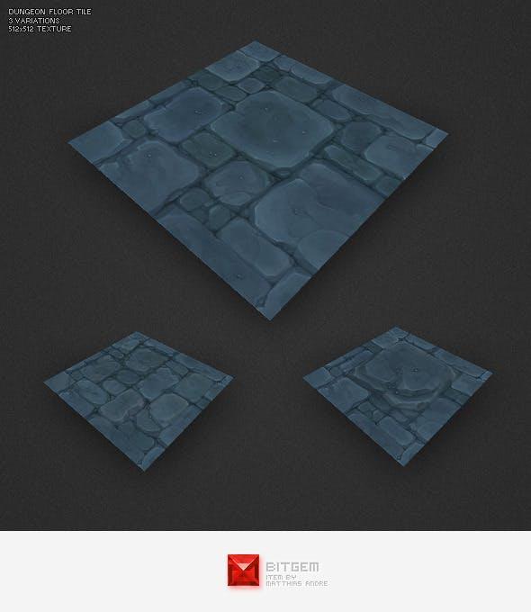 Low Poly Dungeon Floor Tile - 3DOcean Item for Sale