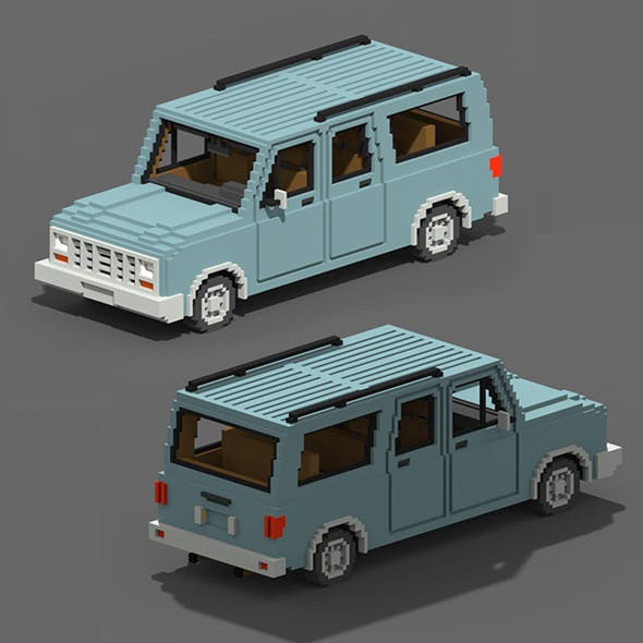 Voxel SUV Car