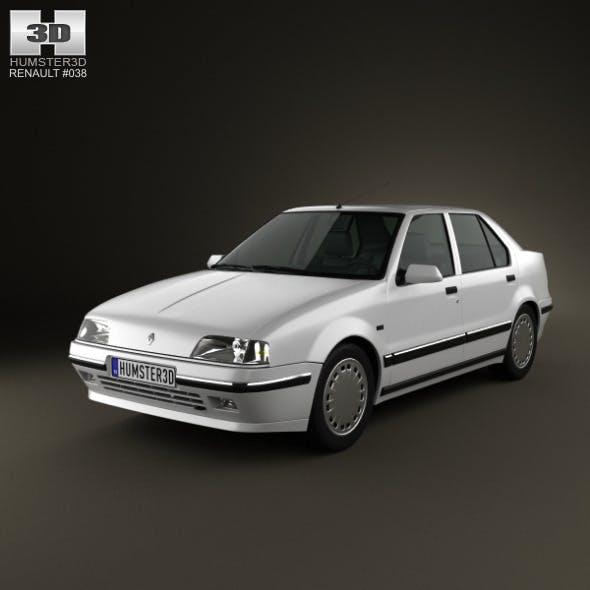 Renault 19 Sedan 1988 - 3DOcean Item for Sale