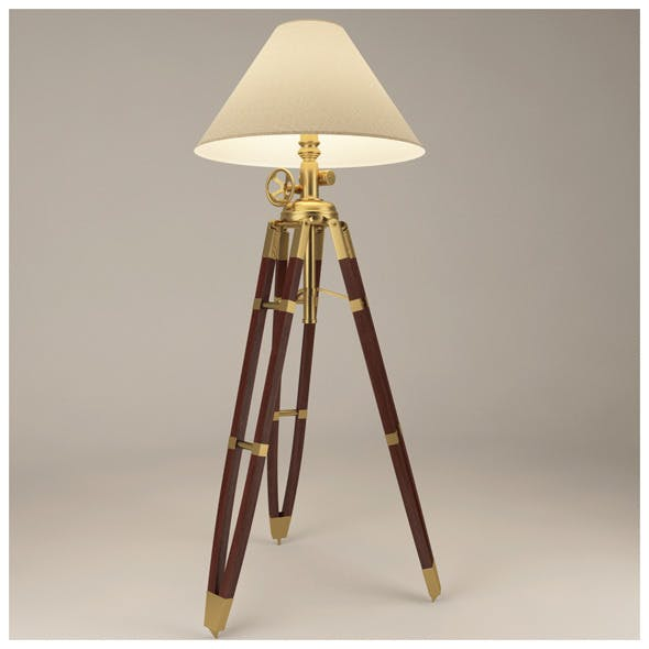 Royal Marine Tripod Lamp with materials & textures - 3DOcean Item for Sale
