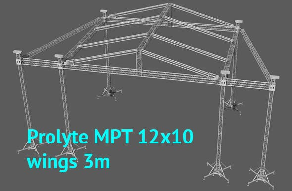 Prolyte MPT 12x10 roof with side wings 3m original - 3DOcean Item for Sale