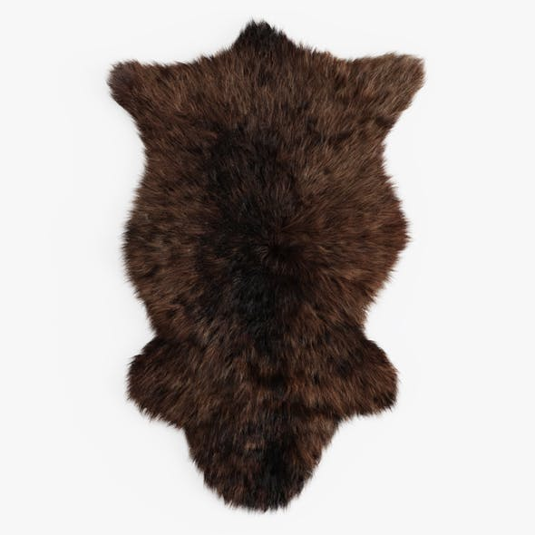 Bedside Sheepskin Rug 07 - 3DOcean Item for Sale
