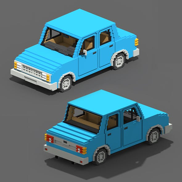 Voxel Sedan Car