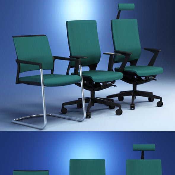 Quality 3dmodel of modern chairs Mera. Kloeber