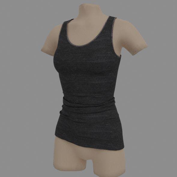 Sleeveless shirt - 3DOcean Item for Sale