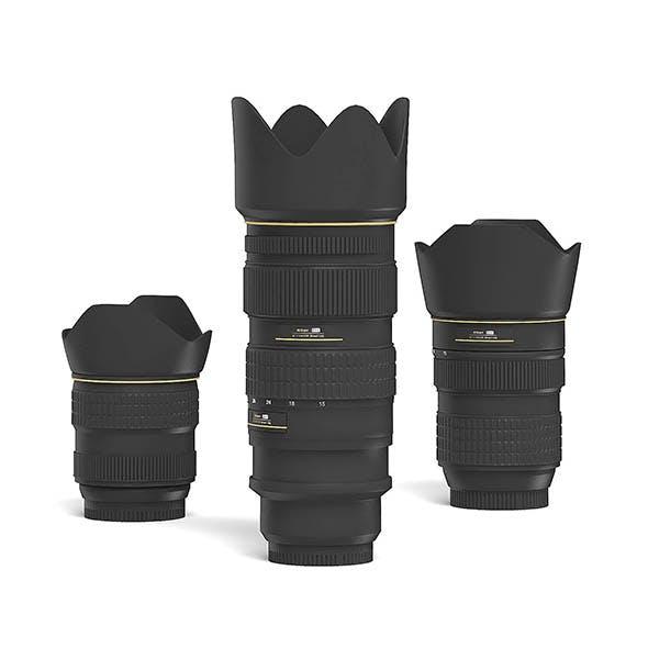Camera Lenses 3D Model