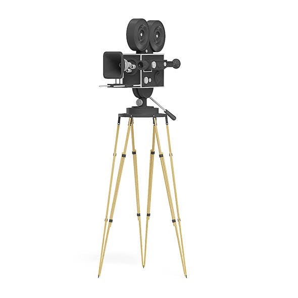 Vintage Movie Camera 3D Model - 3DOcean Item for Sale