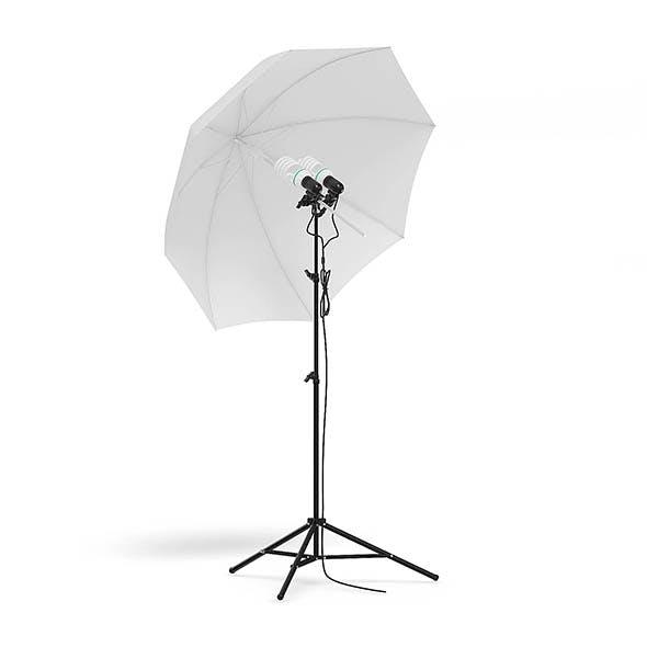 Umbrella Studio Light 3D Model