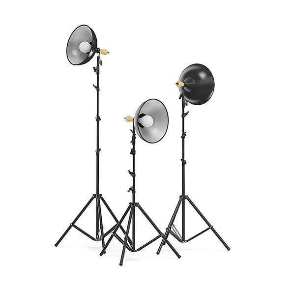Studio Lights 3D Model