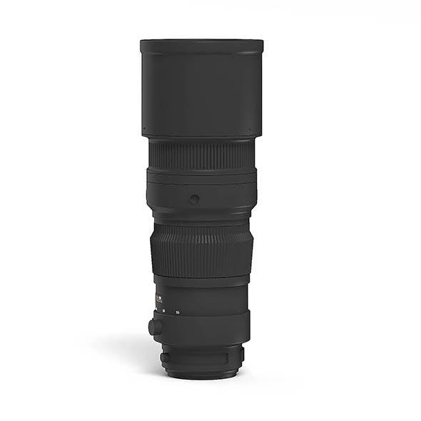 Telephoto Lens 3D Model - 3DOcean Item for Sale