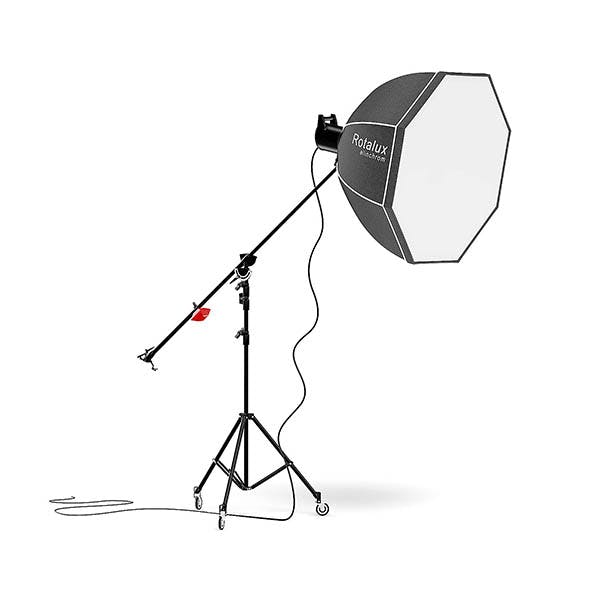 Studio Boom Arm with Softbox 3D Model - 3DOcean Item for Sale