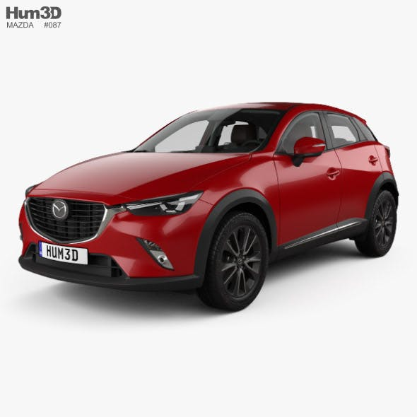 Mazda CX-3 GT-M with HQ interior 2016 - 3DOcean Item for Sale
