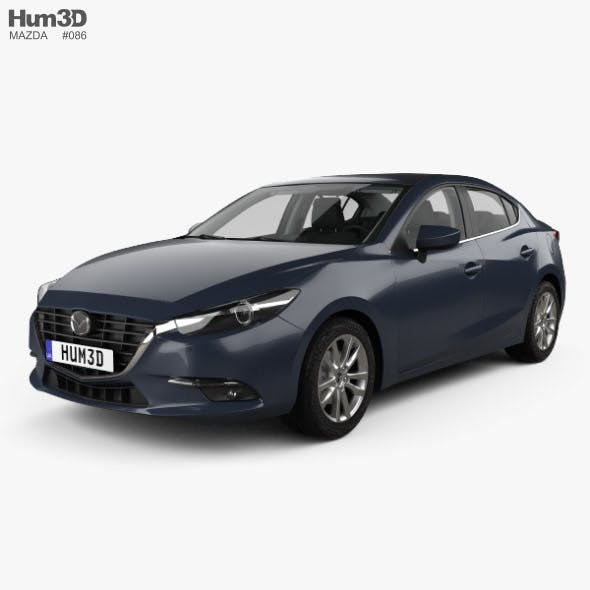 Mazda 3 (BM) sedan with HQ interior 2017