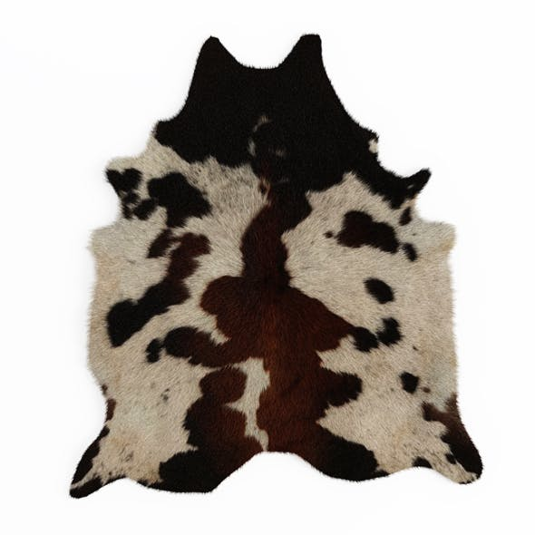 Black and Brown Spotted Cowhide Rug - 3DOcean Item for Sale