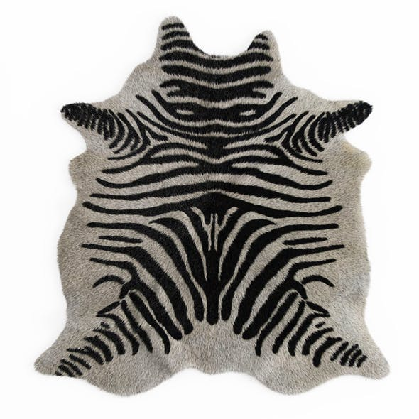 Zebra rug 02 - 3DOcean Item for Sale
