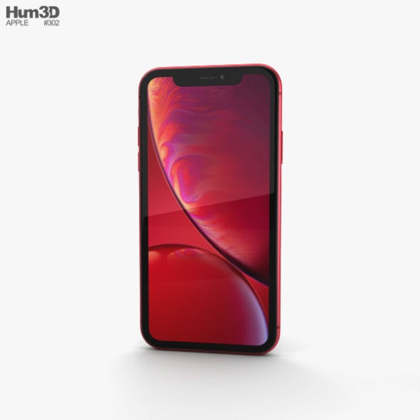 Apple iPhone XR Red - 3DOcean Item for Sale