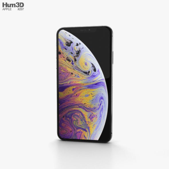 Apple iPhone XS Max Silver - 3DOcean Item for Sale