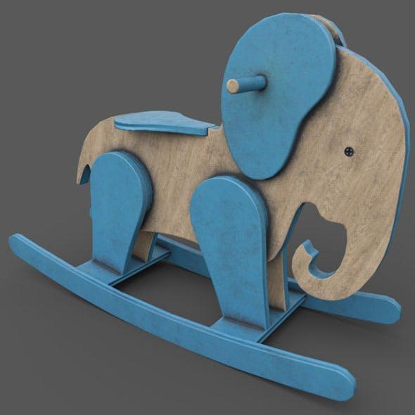 Wooden Elephant Rocking Horse