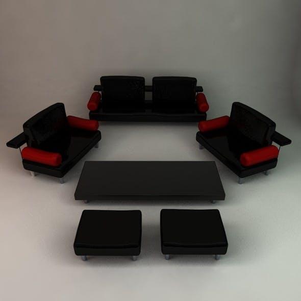 Living Room Set - 3DOcean Item for Sale