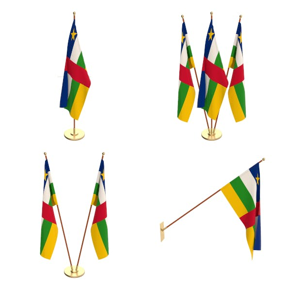 Central African Republic Flag Pack - 3DOcean Item for Sale