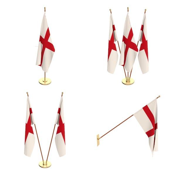 England Flag Pack - 3DOcean Item for Sale